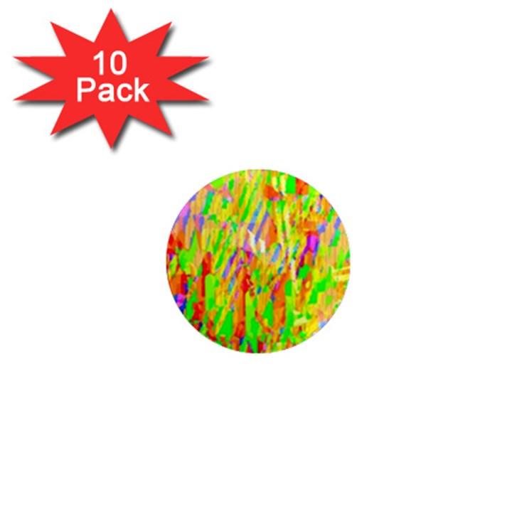 Cheerful Phantasmagoric Pattern 1  Mini Magnet (10 pack)
