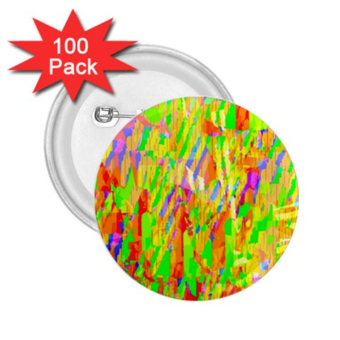 Cheerful Phantasmagoric Pattern 2.25  Buttons (100 pack)