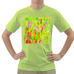 Cheerful Phantasmagoric Pattern Green T-Shirt