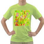 Cheerful Phantasmagoric Pattern Green T-Shirt Front