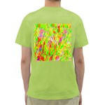 Cheerful Phantasmagoric Pattern Green T-Shirt Back