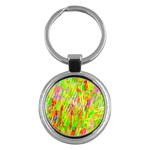 Cheerful Phantasmagoric Pattern Key Chains (Round)  Front
