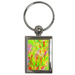 Cheerful Phantasmagoric Pattern Key Chains (Rectangle)  Front