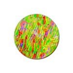 Cheerful Phantasmagoric Pattern Rubber Round Coaster (4 pack)  Front
