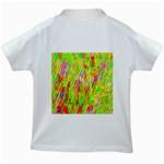 Cheerful Phantasmagoric Pattern Kids White T-Shirts Back