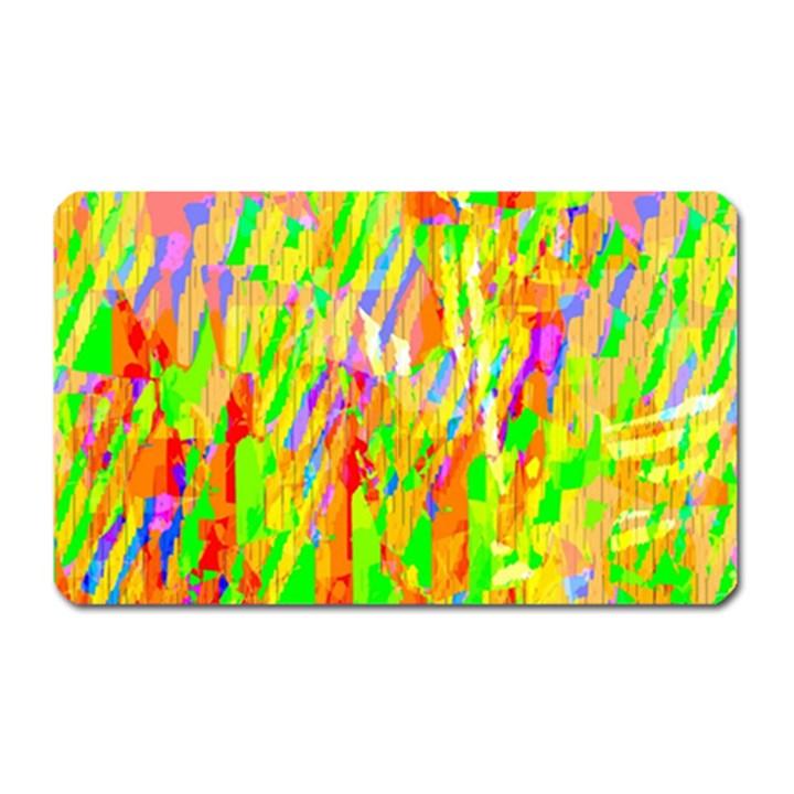 Cheerful Phantasmagoric Pattern Magnet (Rectangular)
