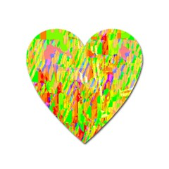 Cheerful Phantasmagoric Pattern Heart Magnet