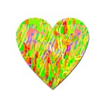 Cheerful Phantasmagoric Pattern Heart Magnet Front