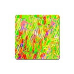 Cheerful Phantasmagoric Pattern Square Magnet Front