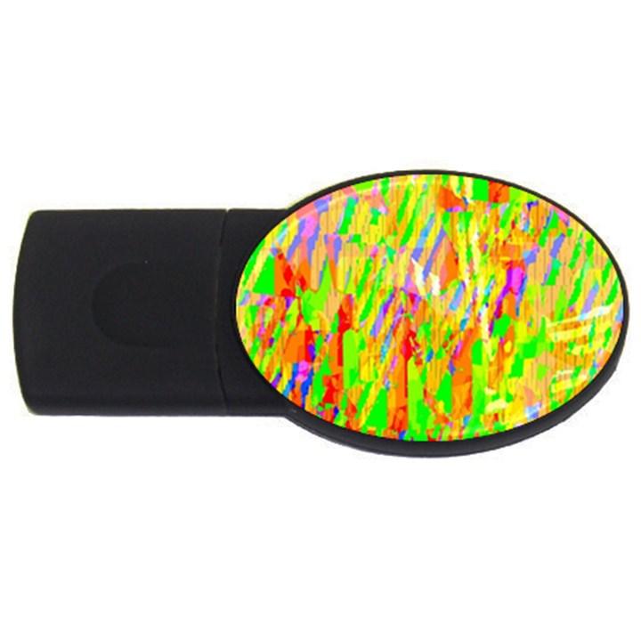 Cheerful Phantasmagoric Pattern USB Flash Drive Oval (1 GB)