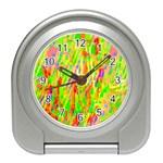 Cheerful Phantasmagoric Pattern Travel Alarm Clocks Front