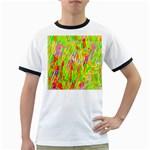 Cheerful Phantasmagoric Pattern Ringer T-Shirts Front