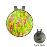 Cheerful Phantasmagoric Pattern Hat Clips with Golf Markers Front