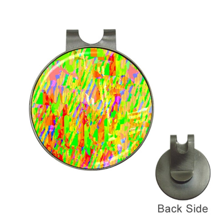 Cheerful Phantasmagoric Pattern Hat Clips with Golf Markers