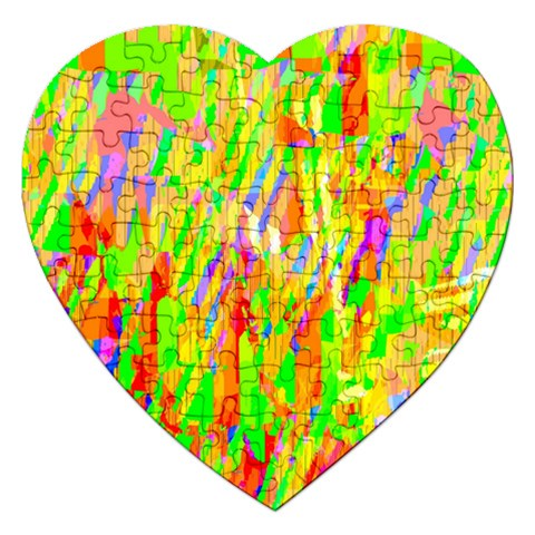 Cheerful Phantasmagoric Pattern Jigsaw Puzzle (Heart)