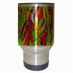 Cheerful Phantasmagoric Pattern Travel Mug (Silver Gray) Center