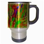 Cheerful Phantasmagoric Pattern Travel Mug (Silver Gray) Right