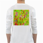 Cheerful Phantasmagoric Pattern White Long Sleeve T-Shirts Back