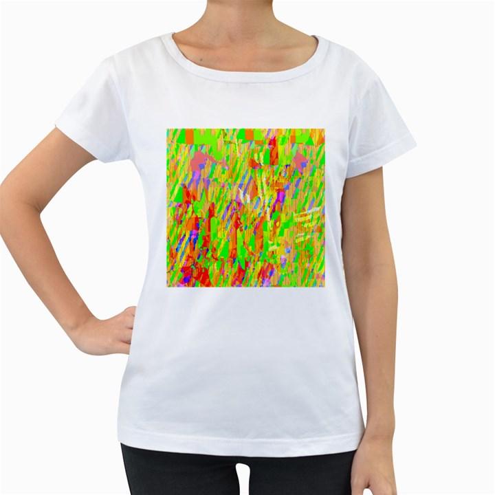 Cheerful Phantasmagoric Pattern Women s Loose-Fit T-Shirt (White)