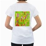 Cheerful Phantasmagoric Pattern Women s Loose-Fit T-Shirt (White) Back