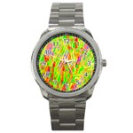 Cheerful Phantasmagoric Pattern Sport Metal Watch Front