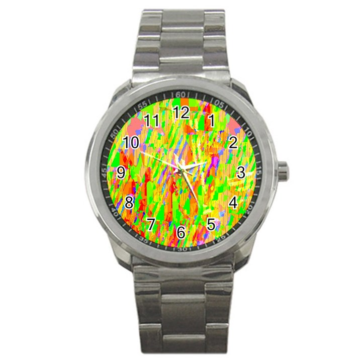 Cheerful Phantasmagoric Pattern Sport Metal Watch