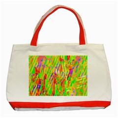 Cheerful Phantasmagoric Pattern Classic Tote Bag (Red)