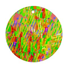 Cheerful Phantasmagoric Pattern Round Ornament (Two Sides)