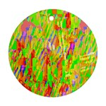 Cheerful Phantasmagoric Pattern Round Ornament (Two Sides)  Back