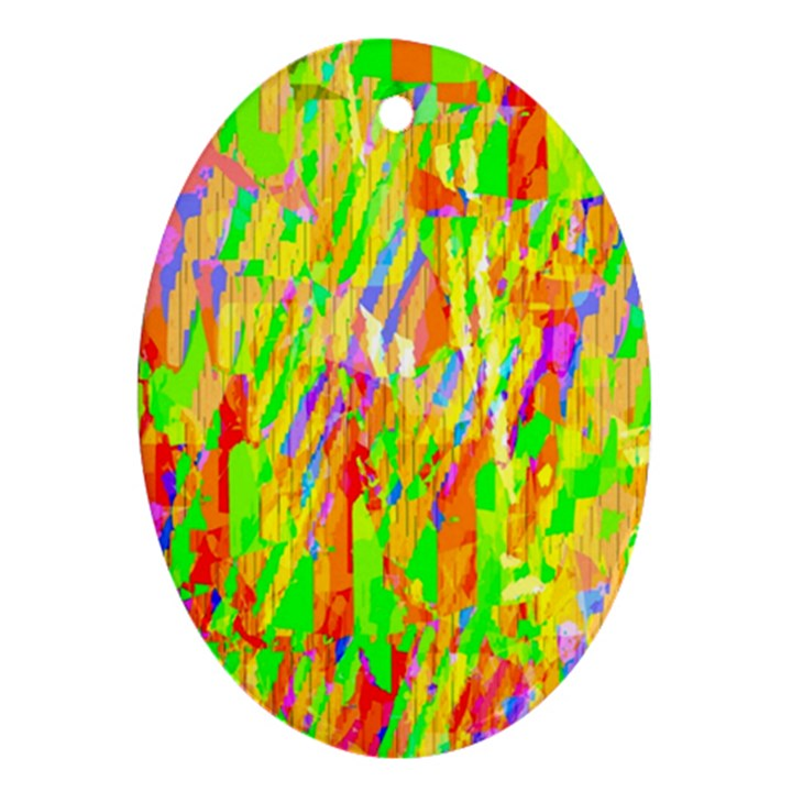 Cheerful Phantasmagoric Pattern Oval Ornament (Two Sides)