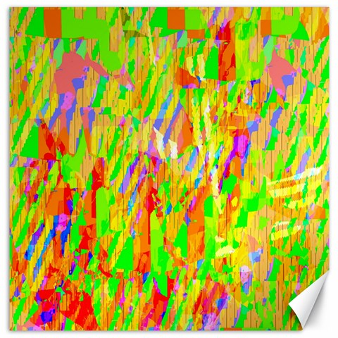 Cheerful Phantasmagoric Pattern Canvas 16  x 16