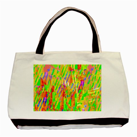 Cheerful Phantasmagoric Pattern Basic Tote Bag (Two Sides)