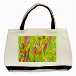 Cheerful Phantasmagoric Pattern Basic Tote Bag (Two Sides) Front
