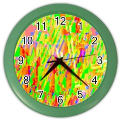 Cheerful Phantasmagoric Pattern Color Wall Clocks
