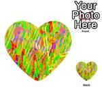Cheerful Phantasmagoric Pattern Multi-purpose Cards (Heart)  Front 33