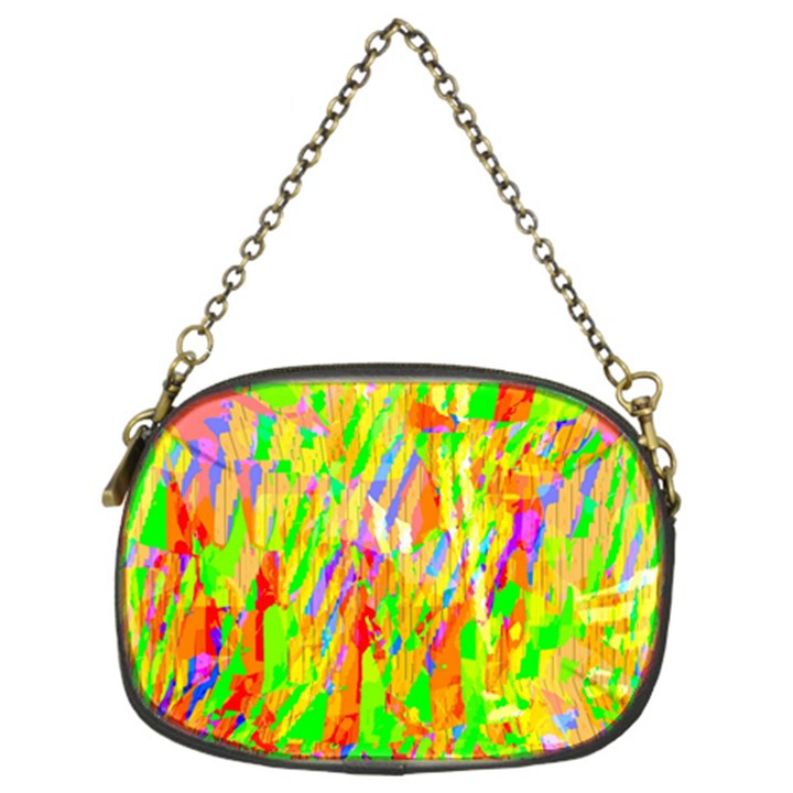 Cheerful Phantasmagoric Pattern Chain Purses (Two Sides)