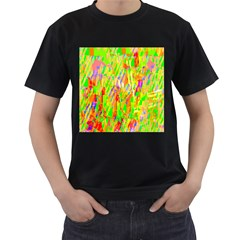 Cheerful Phantasmagoric Pattern Men s T-Shirt (Black)