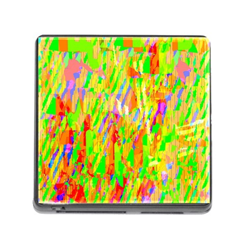 Cheerful Phantasmagoric Pattern Memory Card Reader (Square)
