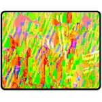Cheerful Phantasmagoric Pattern Fleece Blanket (Medium)  60 x50 Blanket Front