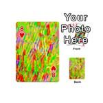Cheerful Phantasmagoric Pattern Playing Cards 54 (Mini)  Front - Heart8