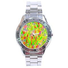 Cheerful Phantasmagoric Pattern Stainless Steel Analogue Watch