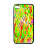 Cheerful Phantasmagoric Pattern Apple iPhone 4 Case (Black) Front
