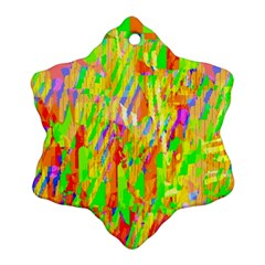 Cheerful Phantasmagoric Pattern Snowflake Ornament (2-Side)