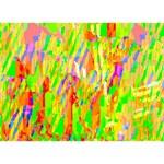 Cheerful Phantasmagoric Pattern LOVE Bottom 3D Greeting Card (7x5) Front