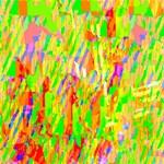 Cheerful Phantasmagoric Pattern ENGAGED 3D Greeting Card (8x4) Inside