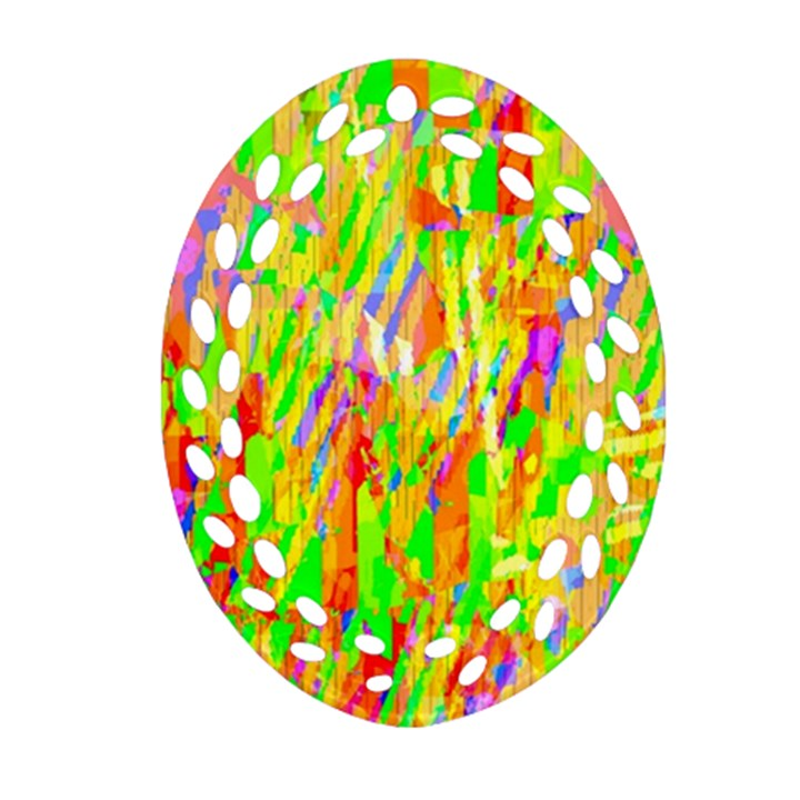 Cheerful Phantasmagoric Pattern Ornament (Oval Filigree)