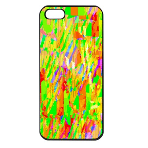 Cheerful Phantasmagoric Pattern Apple iPhone 5 Seamless Case (Black)