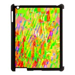 Cheerful Phantasmagoric Pattern Apple iPad 3/4 Case (Black) Front