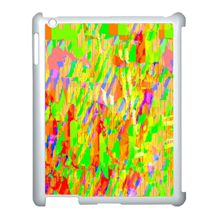 Cheerful Phantasmagoric Pattern Apple iPad 3/4 Case (White)