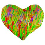 Cheerful Phantasmagoric Pattern Large 19  Premium Heart Shape Cushions Front